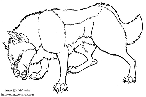 Werewolf Lineart Preview Image