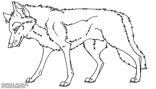 Wolf Lineart Preview Image