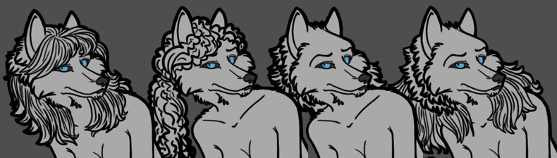 Female Werewolf PSD Preview Image