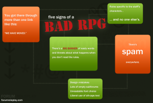 Five Signs of a Bad RPG Infographic Preview Image
