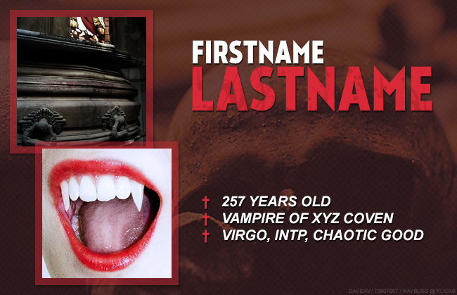 Free Vampire RPG PSD Preview Image