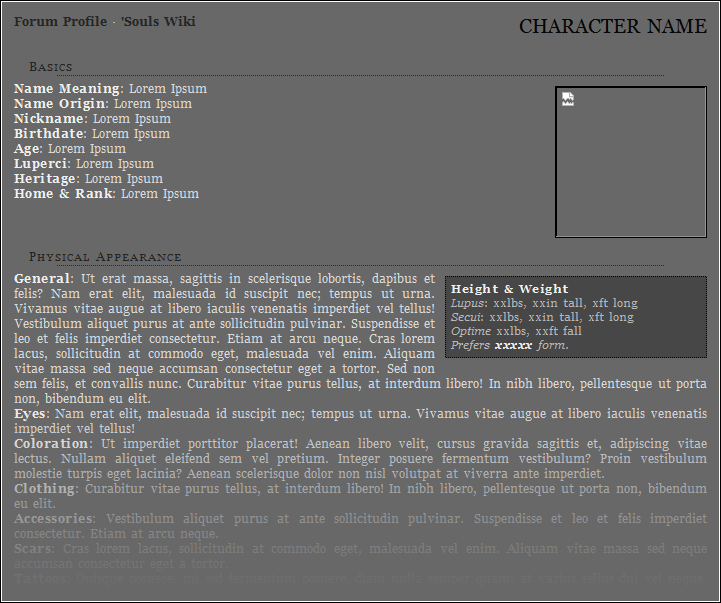 Text Roleplay Character Sheet Preview Image