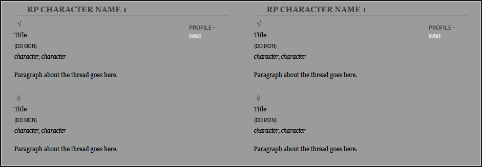RPG Post Log for Multiple Characters Preview Image