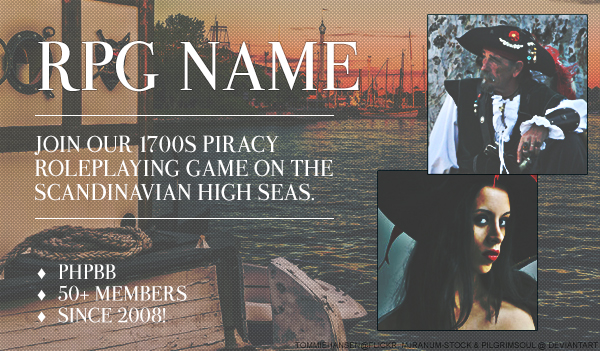 Pirates RPG Promotion PSD Template Preview Image