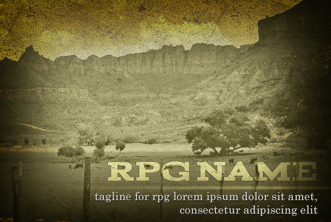 Western RPG Promotion PSD Template Preview Image