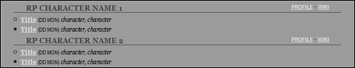 Simple RPG Post Log I Preview Image