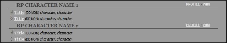 Simple RPG Post Log II Preview Image
