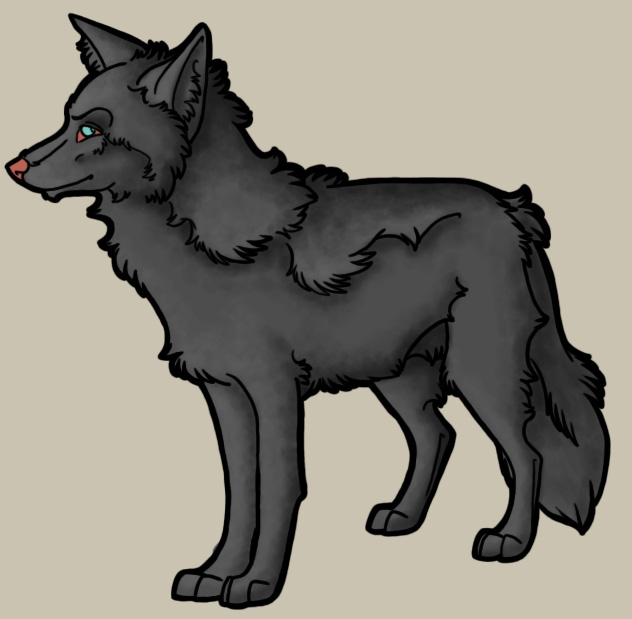Wolf Shaded Stand PSD Preview Image